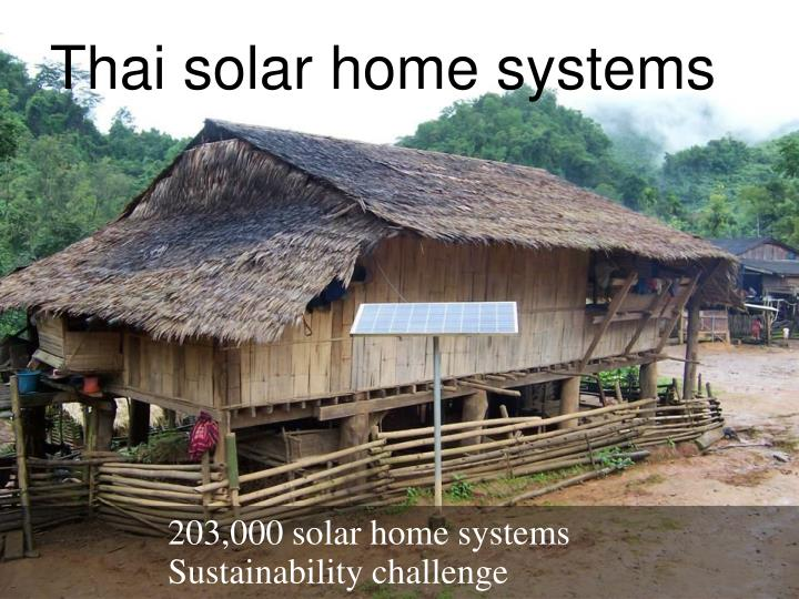 Thai solar home systems