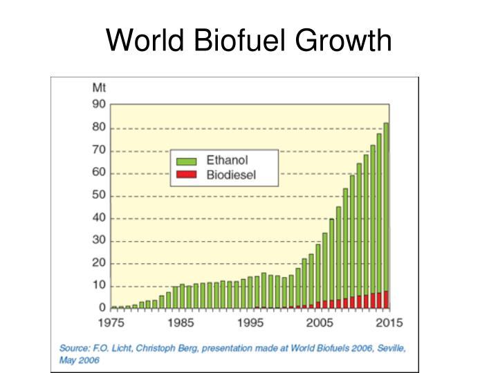 World Biofuel Growth