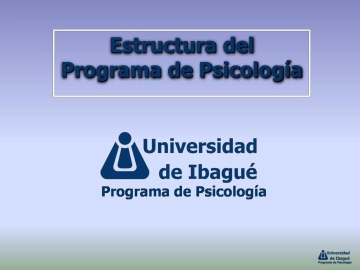 Estructura del Programa de Psicología