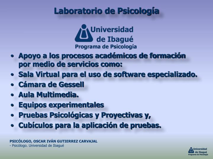 Laboratorio de Psicología