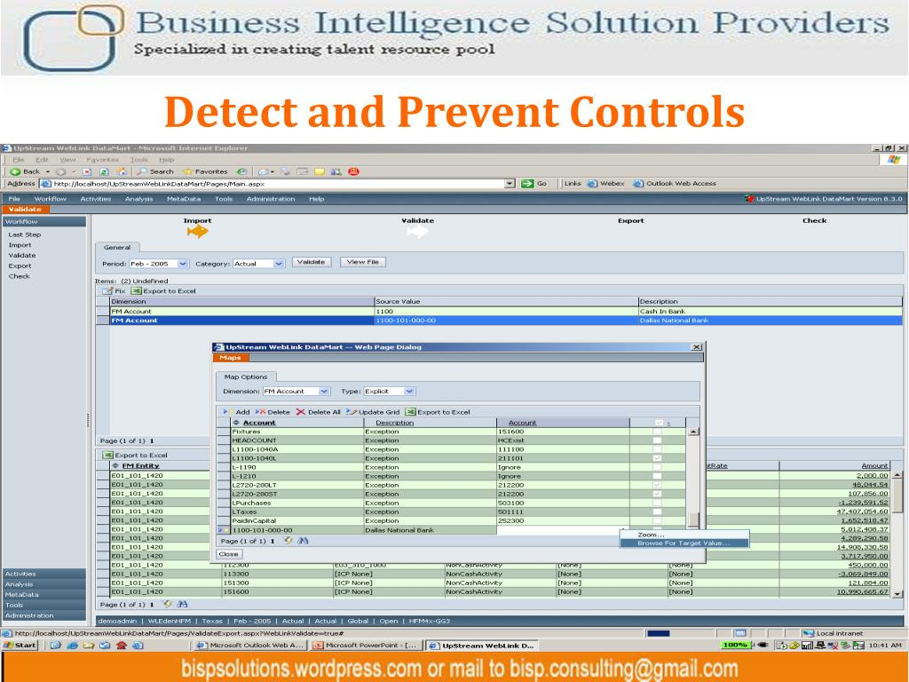 Detect and Prevent Controls
