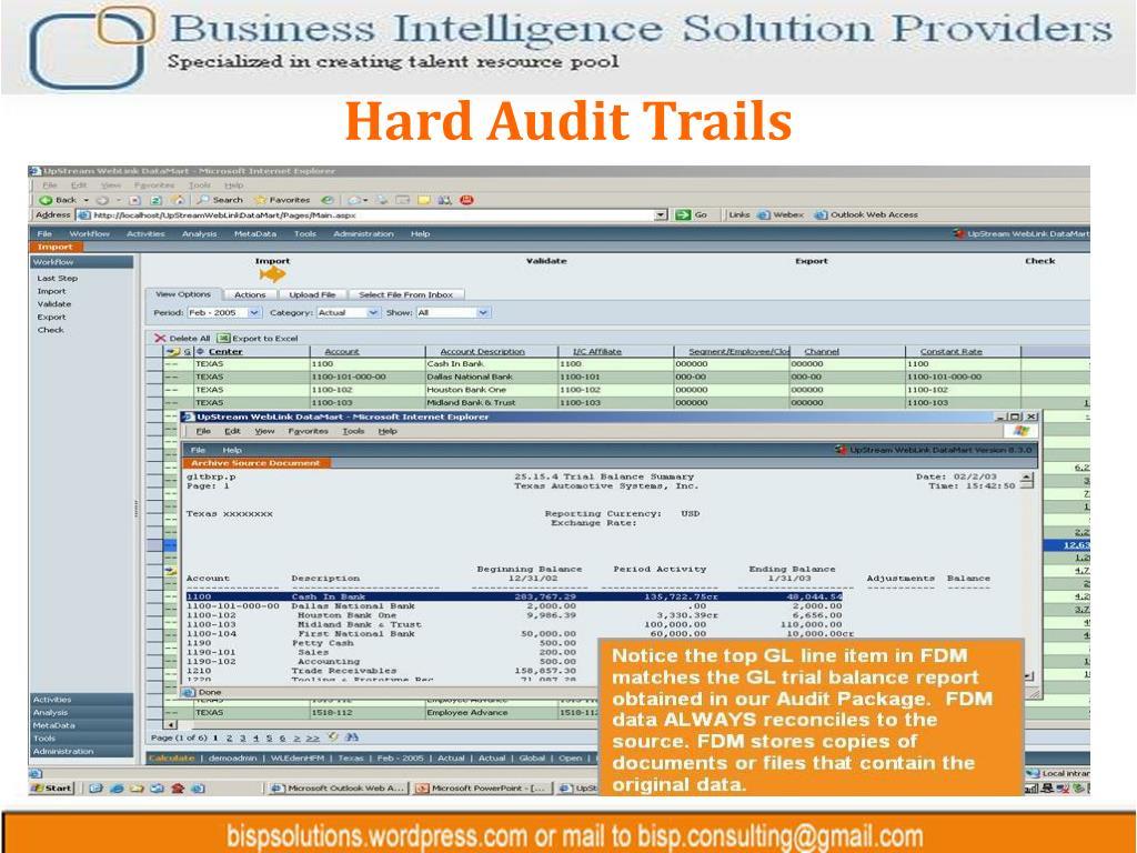 Hard Audit Trails
