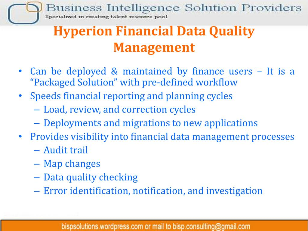 Hyperion Financial Data Quality Management