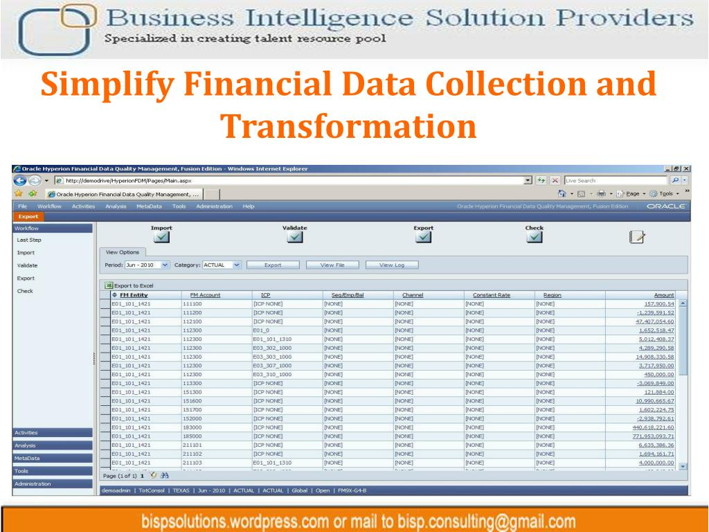 Simplify Financial Data Collection and Transformation