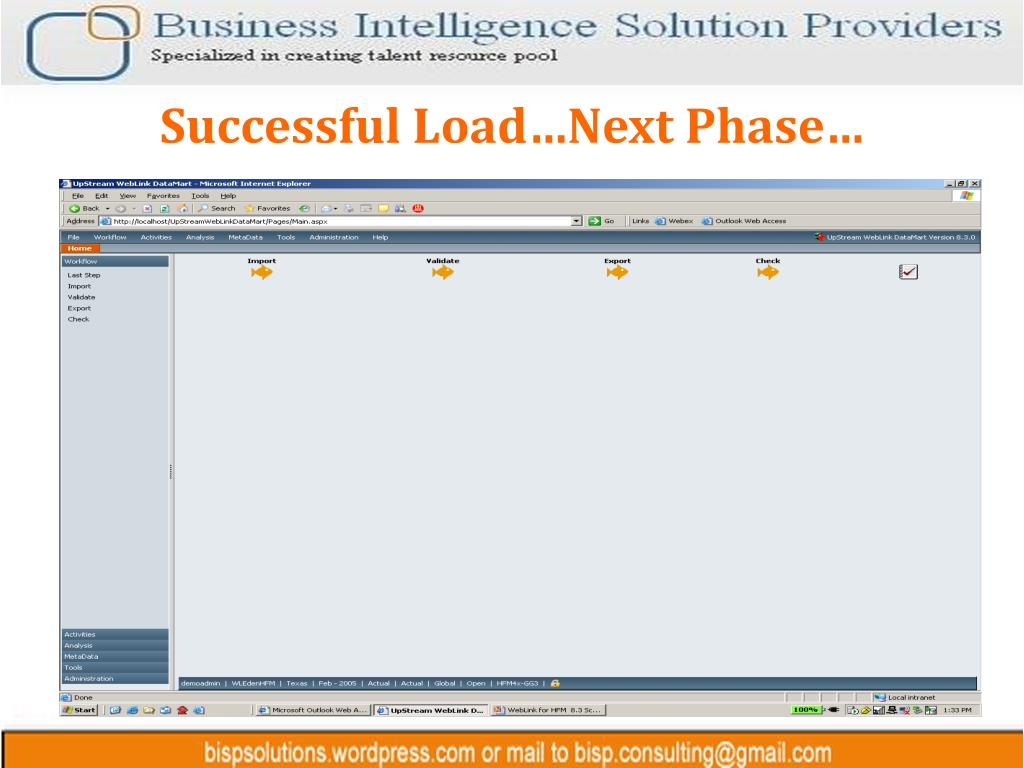 Successful Load…Next Phase…