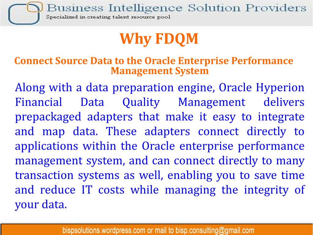 Why FDQM
