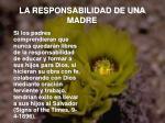 la responsabilidad de una madre