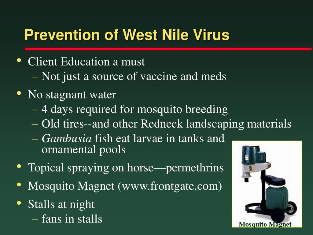 Prevention of West Nile Virus