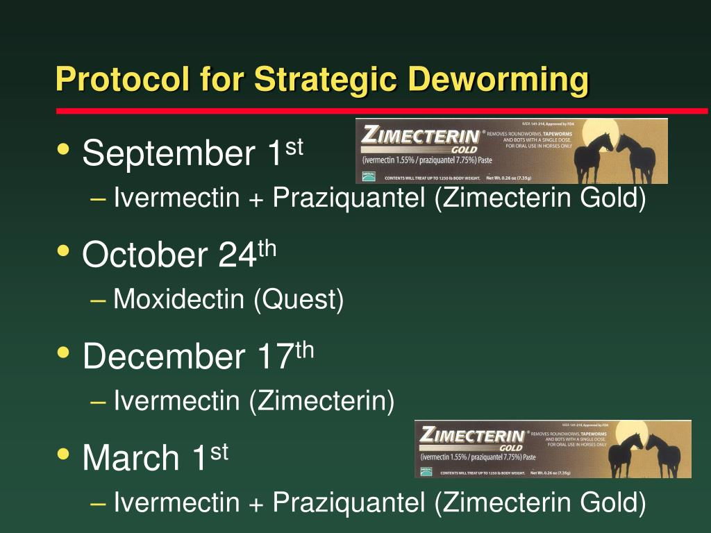 Protocol for Strategic Deworming