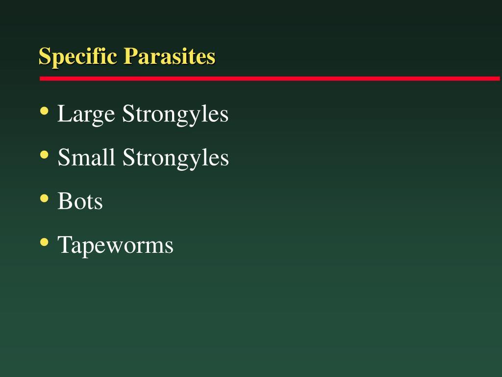 Specific Parasites