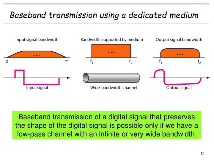 Baseband transmission using a dedicated medium
