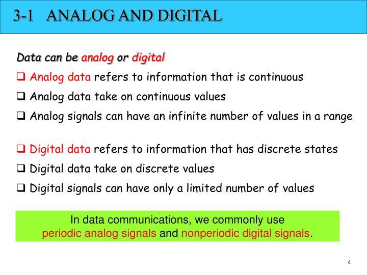 3-1   ANALOG AND DIGITAL