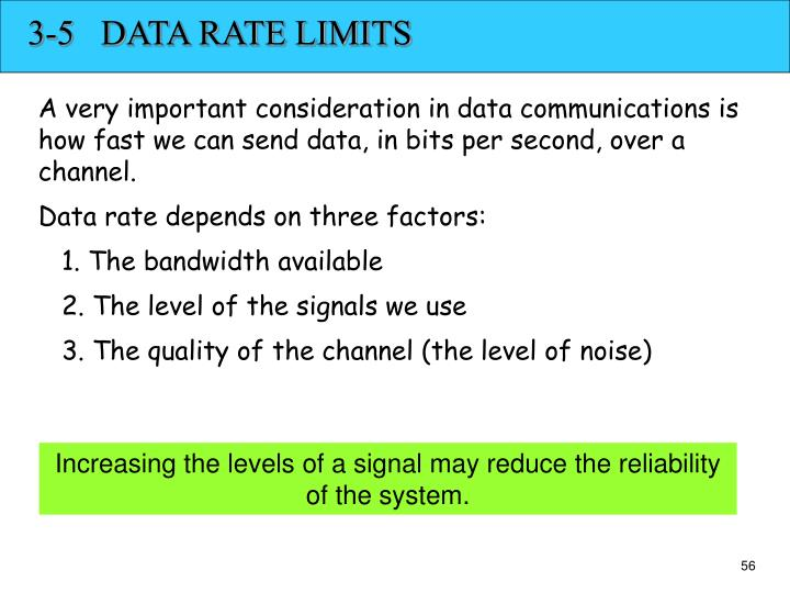 3-5   DATA RATE LIMITS
