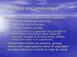 definition of community