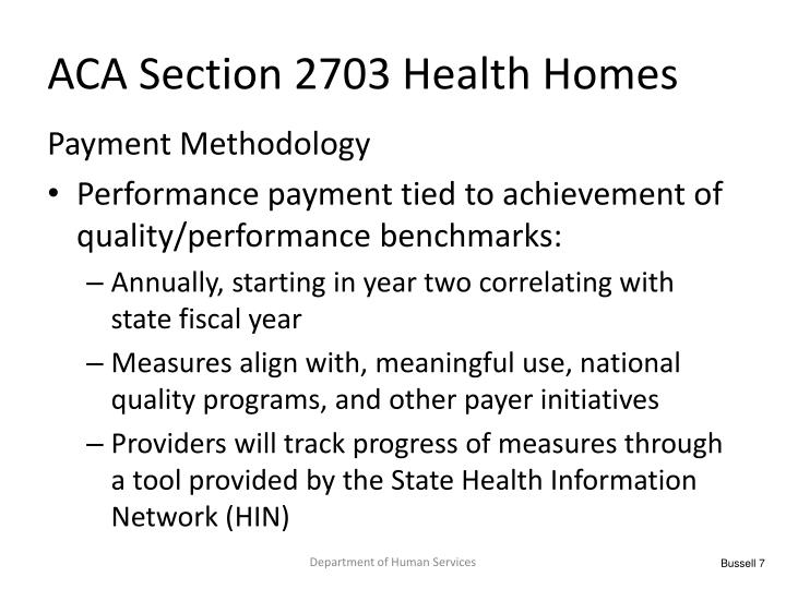 ACA Section 2703 Health Homes