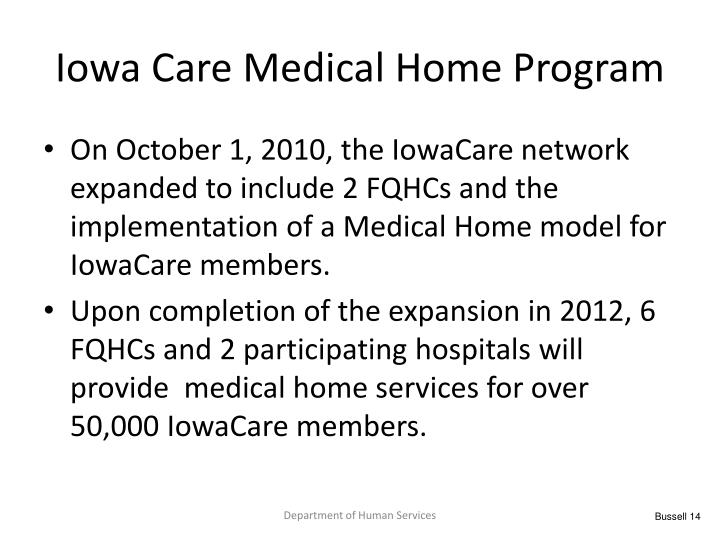 Iowa Care Medical Home Program