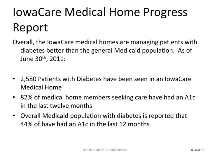 IowaCare Medical Home Progress Report