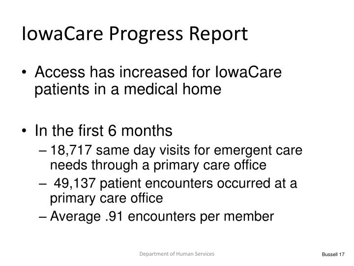 IowaCare Progress Report