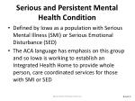 serious and persistent mental health condition