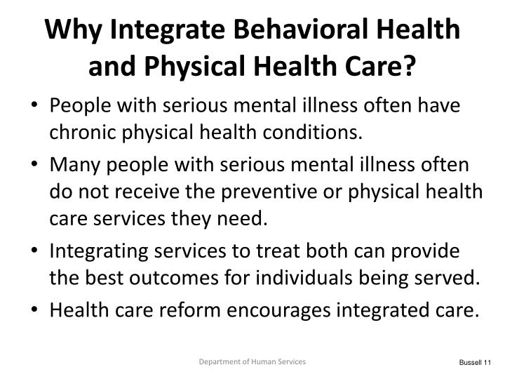 Why Integrate Behavioral Health and Physical Health Care?
