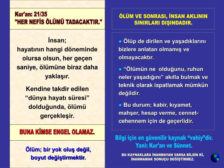 Kur'an: 21/35