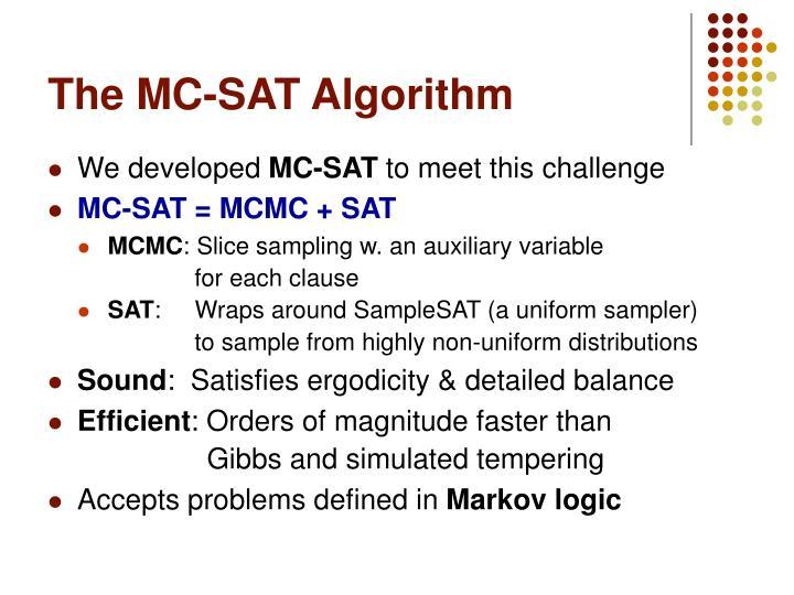 The MC-SAT Algorithm