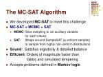 the mc sat algorithm