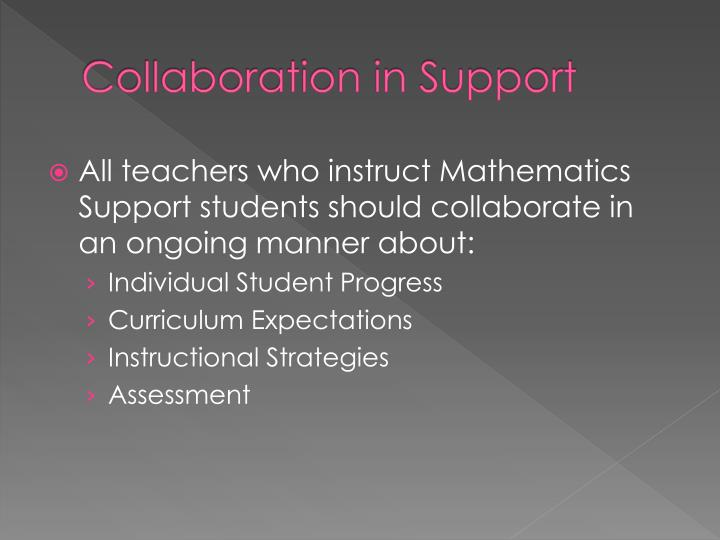 Collaboration in Support