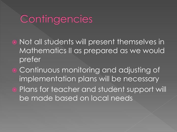 Contingencies