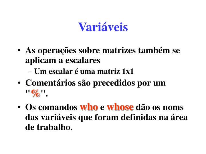 Variáveis