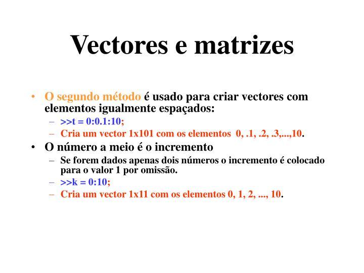 Vectores e matrizes