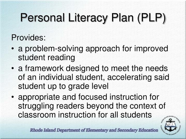 Personal Literacy Plan (PLP)