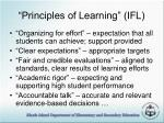 principles of learning ifl