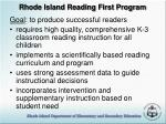 rhode island reading first program