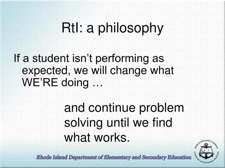 RtI: a philosophy