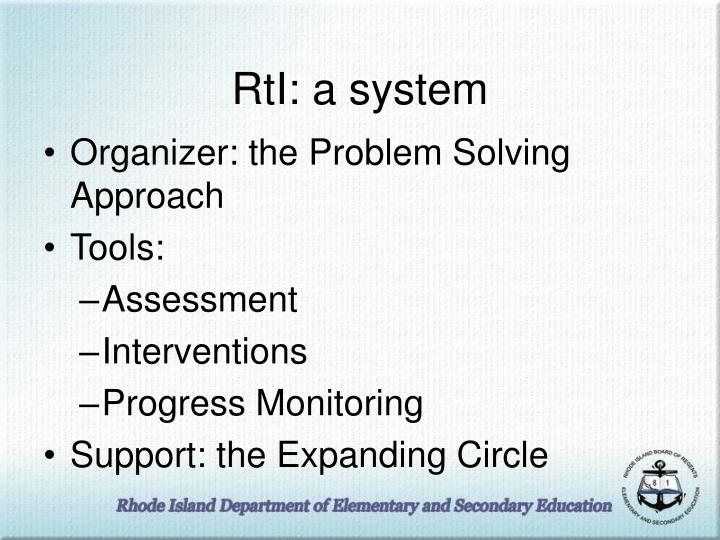 RtI: a system