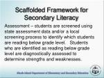 scaffolded framework for secondary literacy1