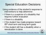 special education decisions