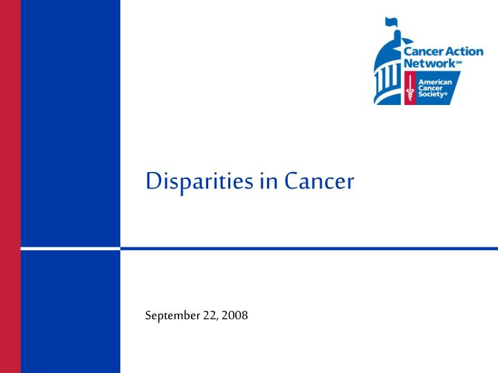 disparities in cancer