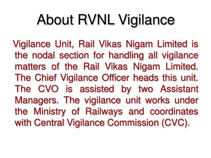 About RVNL Vigilance