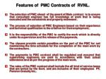 features of pmc contracts of rvnl