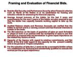 framing and evaluation of financial bids