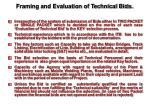 framing and evaluation of technical bids