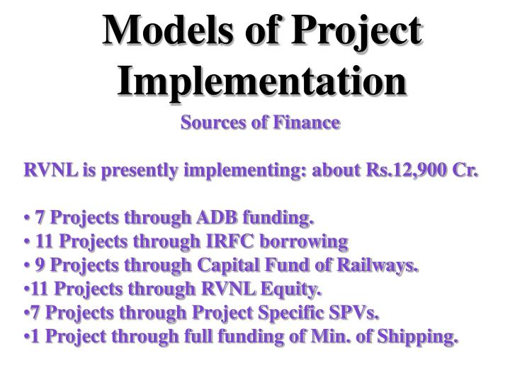Models of Project Implementation