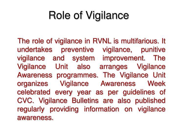 Role of Vigilance