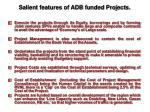 salient features of adb funded projects