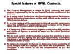 special features of rvnl contracts
