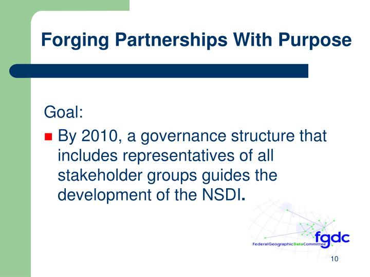 Forging Partnerships With Purpose