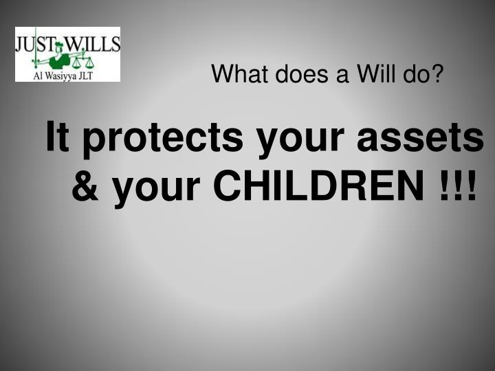 What does a Will do?