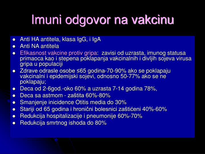 Imuni odgovor na vakcinu